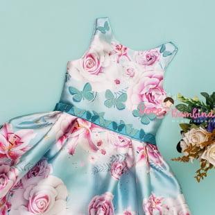 Vestido Petit Cherie de Festa Jardim das Borboletas