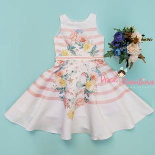 Vestido Petit Cherie de Festa Jardim das Borboletas Encantadas