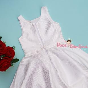 Vestido Petit Cherie de Festa Kids Off White