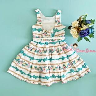 Vestido Petit Cherie de Festa Laço Tiffany