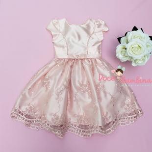 Vestido Petit Cherie de Festa Rosa Princesa Realeza
