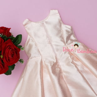 Vestido Petit Cherie de Festa Rosa Sunshine com Renda
