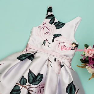Vestido Petit Cherie de Festa Rosas Lilás