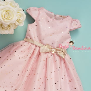 Vestido Petit Cherie de Festa Royalty Tule Rosa Encanto
