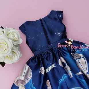 Vestido Petit Cherie de Festa Sky Night