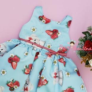 Vestido Petit Cherie de Festa Strawberry