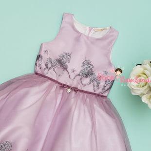 Vestido Petit Cherie de Festa Unicórnio Tule e Glitter