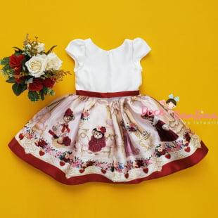 Vestido Petit Cherie de Festa Ursinha Realeza