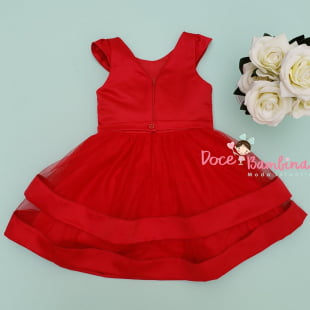 Vestido Petit Cherie de Festa Vermelho