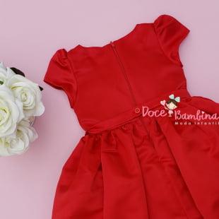 Vestido Petit Cherie de Festa Vermelho Bordado Arabesco