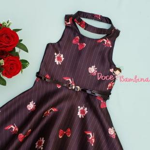 Vestido Petit Cherie Risca de Giz Fashion