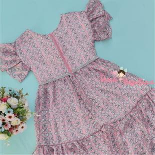 Vestido Petit Cherie de festa Pink Ties Mullet