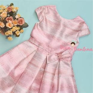 Vestido Petit Cherie de Festa Glitter Rose