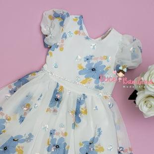 Vestido Petit Cherie de Festa Floral Bordado