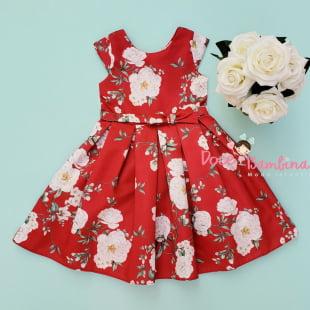 Vestido Petit Cherie de Festa Floral Vermelho