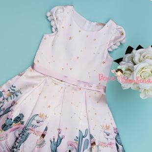 Vestido Petit Cherie de Festa Kids Lhama Fashion