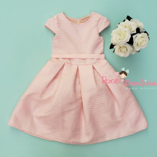 Vestido Petit Cherie de festa Kids Rosa Charming