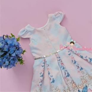 Vestido Petit Cherie de Festa Luxe Butterflies