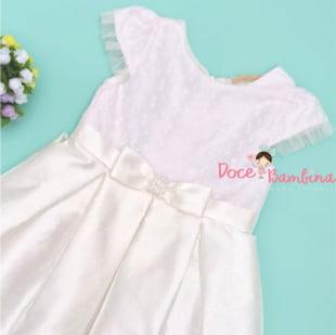 Vestido Petit Cherie de Festa Luxe White