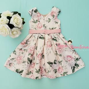 Vestido Petit Cherie de Festa Rosas Jardim