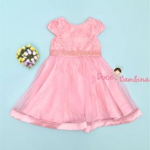 Vestido Petit Cherie de Festa Rose Luxe