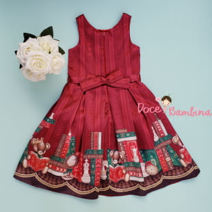 Vestido Petit Cherie de Festa Ursinho Royals