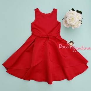 Vestido Petit Cherie de Festa Vermelho Glamour kids