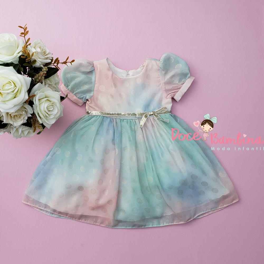 Vestido Petit Cherie Bebe Candy Color