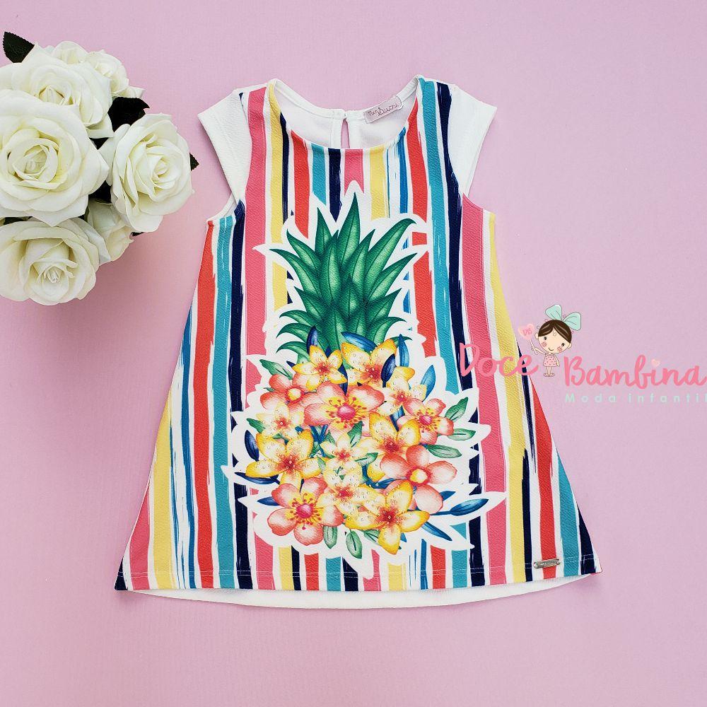 Vestido Mon Sucré Abacaxi Floral