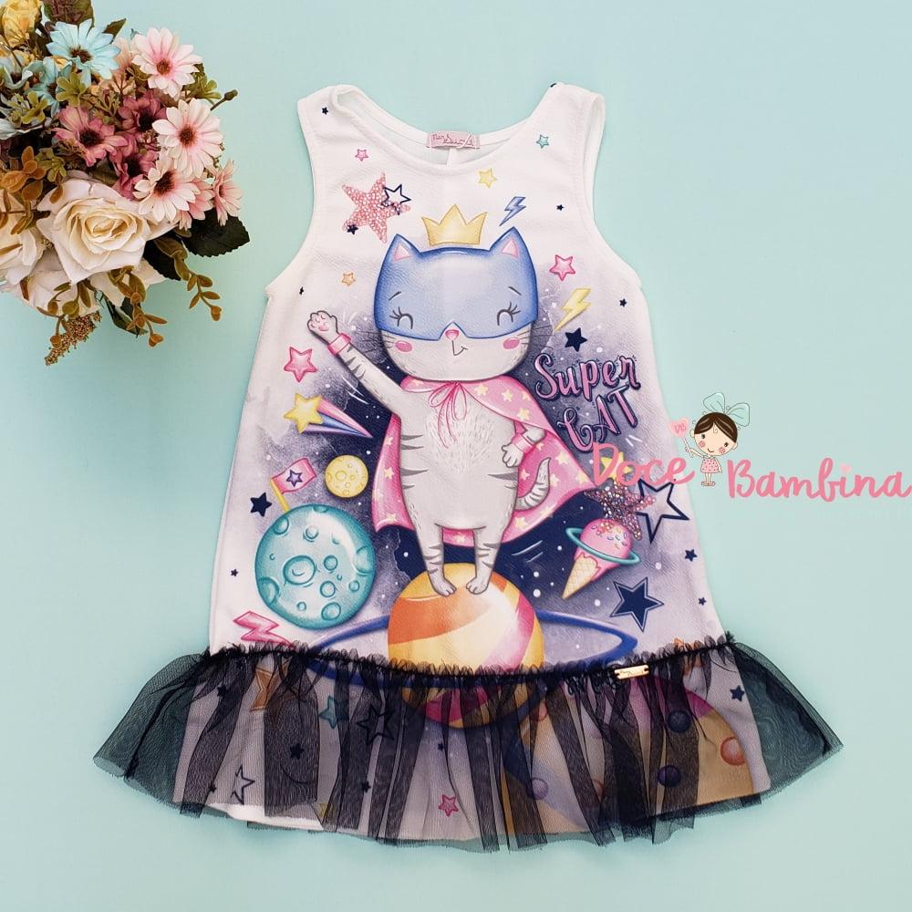 Vestido Mon Sucré Super Gatinha