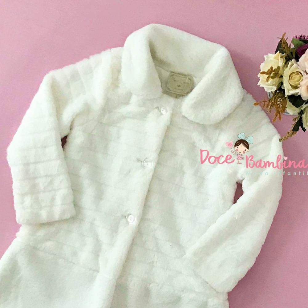 Casaco Petit Cherie Kids de Pele Branco