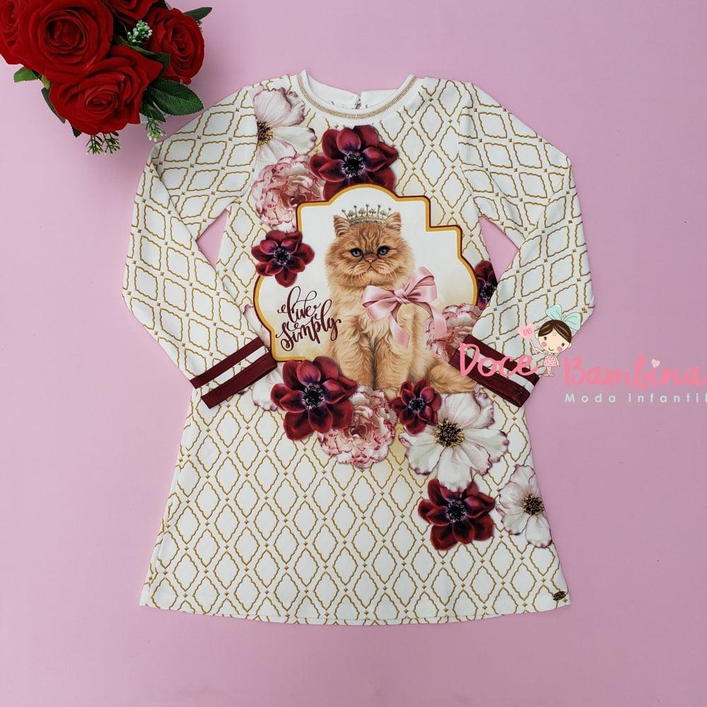 Vestido Petit Cherie Casual Inverno Gatinha Realeza