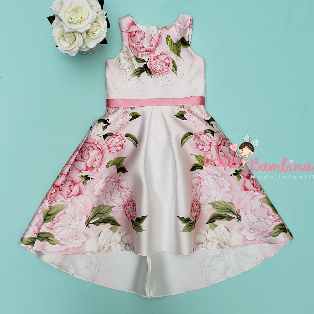 Vestido Petit Cherie de Festa Jardim Rosa