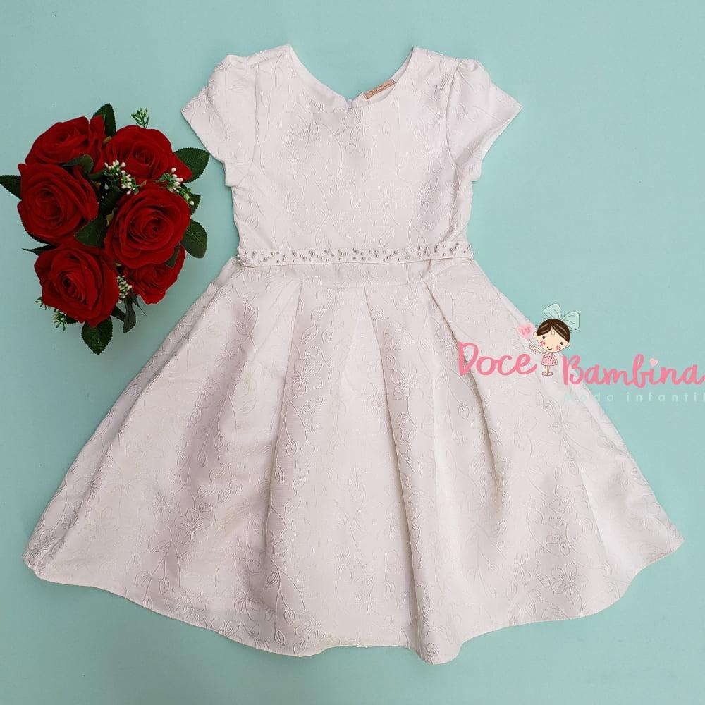Vestido Petit Cherie de Festa Off White Encanto