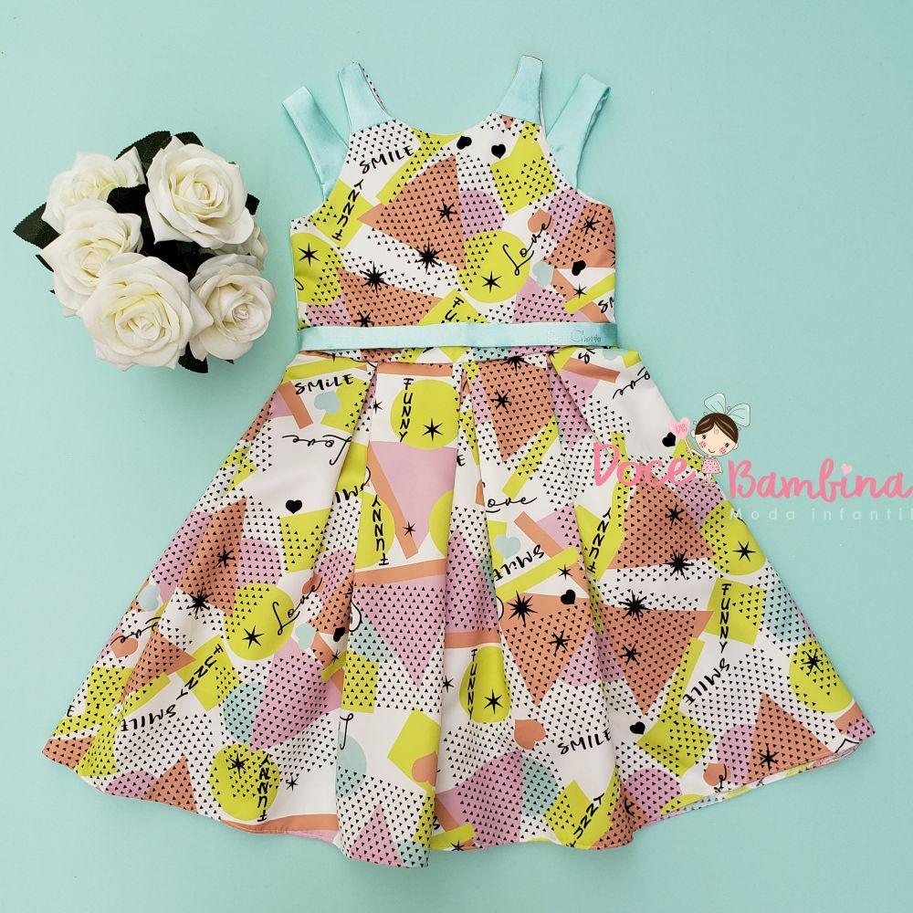 Vestido Petit Cherie de Festa Colorful