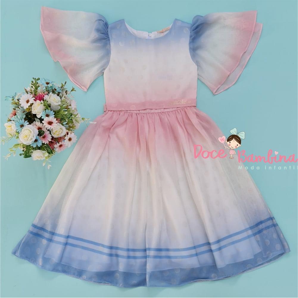 Vestido Petit Cherie de festa Kids Butterflies Magic