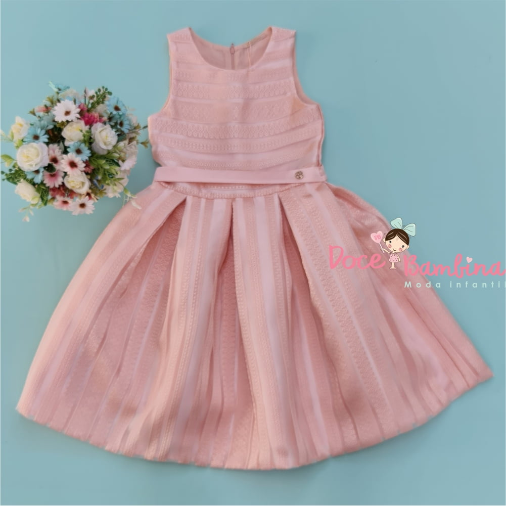 Vestido Petit Cherie de Festa Kids Charming Roses