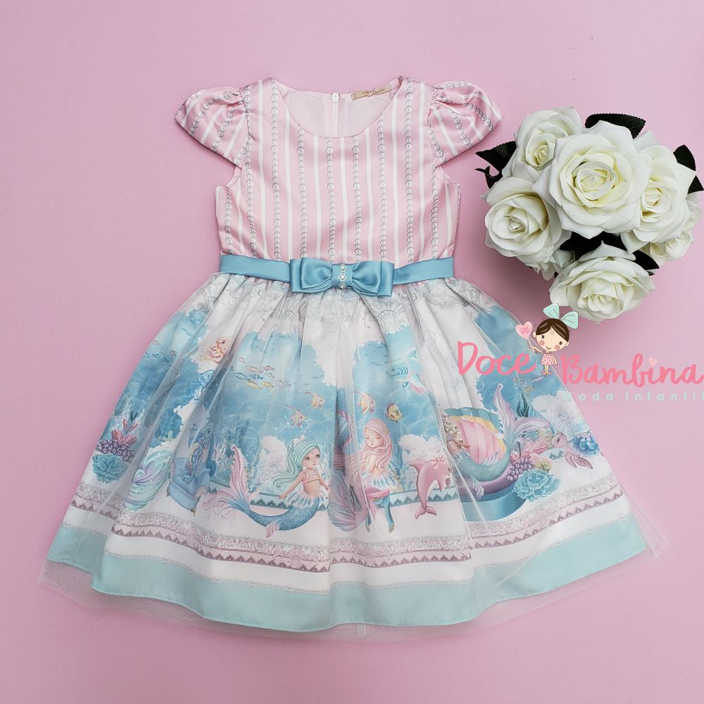 Vestido Petit Cherie de Festa Sereias